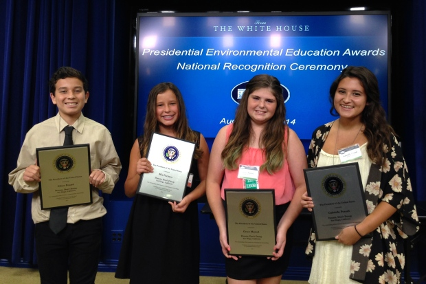 At White House Ceremony for President's Environmental Youth Award