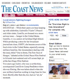 Coast News: Sisters Fighting Hunger